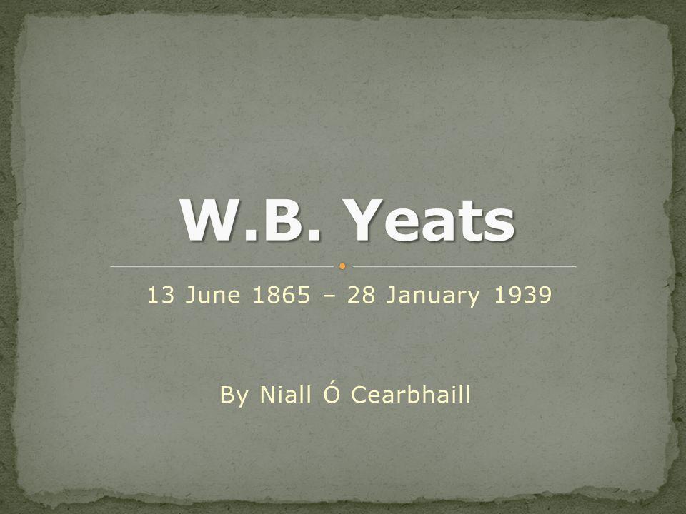 13 June 1865 – 28 January 1939 By Niall Ó Cearbhaill