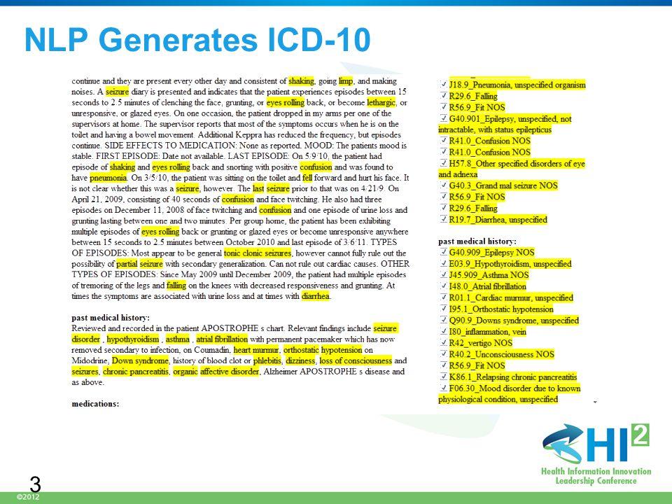 NLP Generates ICD-10 3