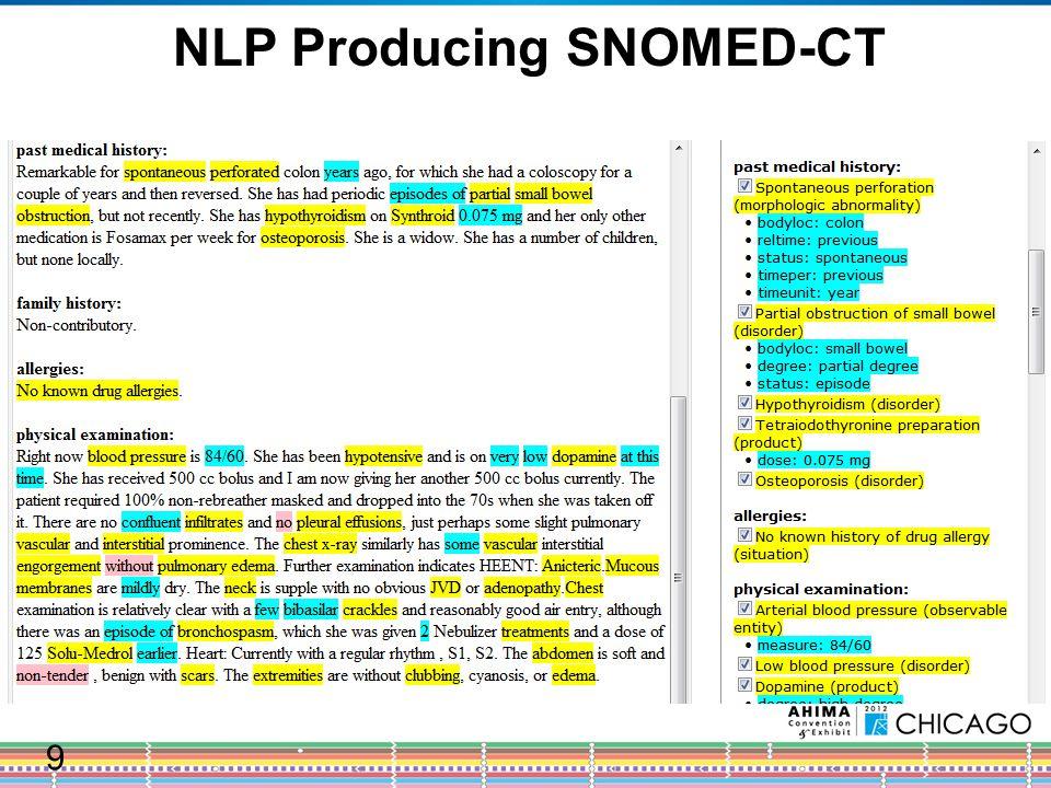 NLP Producing ICD-10-CM 10