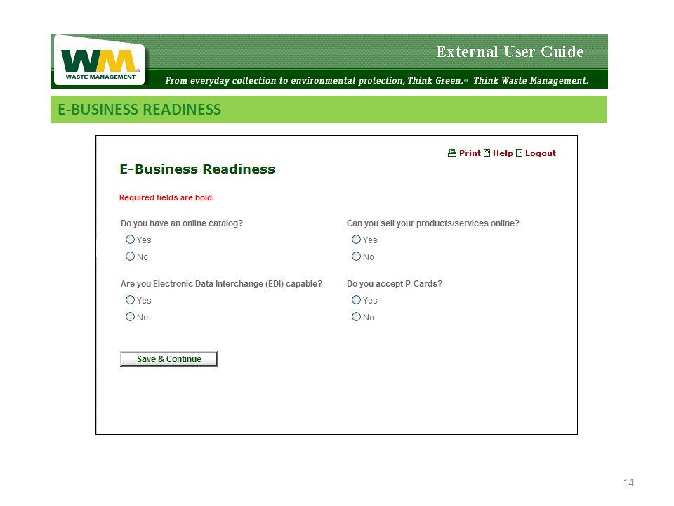 E-BUSINESS READINESS 14