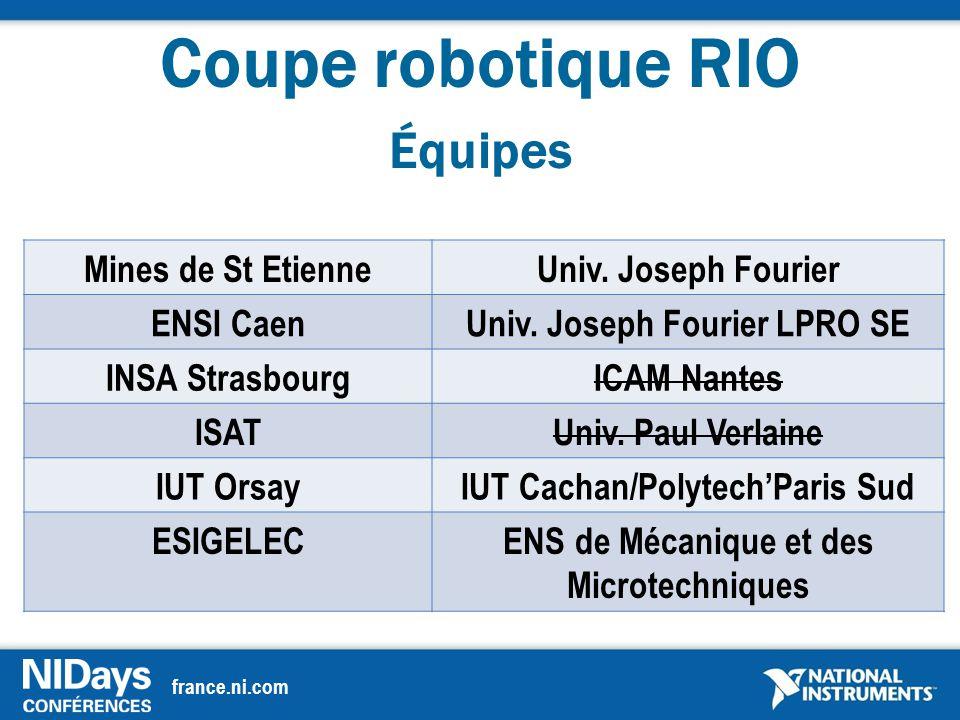 france.ni.com Coupe robotique RIO Équipes Mines de St EtienneUniv.