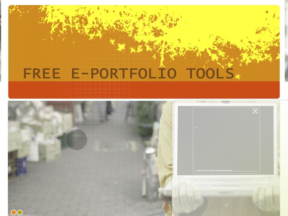 FREE E-PORTFOLIO TOOLS