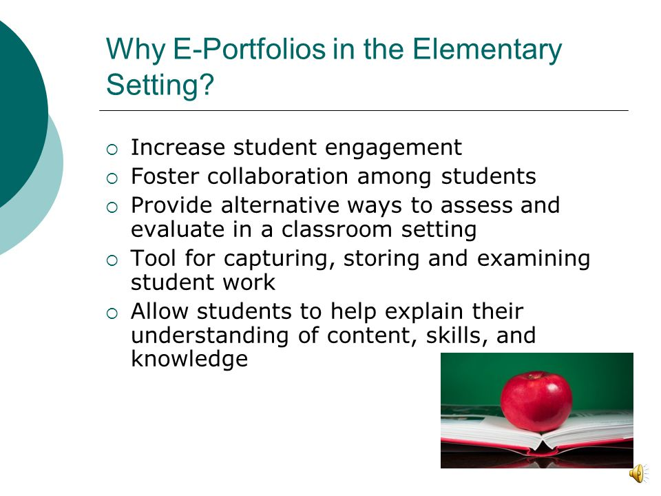 Final Thoughts on E-portfolios Emerging technologies have the potential to be the most powerful when they change pedagogy and content, not when they are merely automated (Dede, 2008).