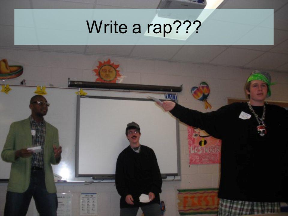 Write a rap