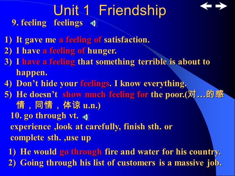 Unit 1 Friendship 7.