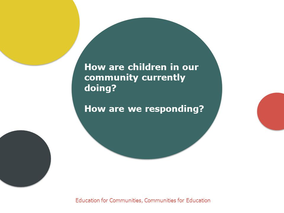 A conversation café format… Research and experience tells us: parents are their child's first and most important teacher. outcomes improve when families, communities, agencies and institutions work together.