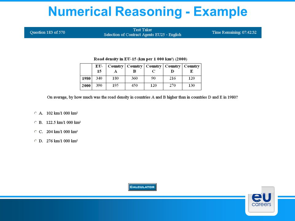 Numerical Reasoning - Example