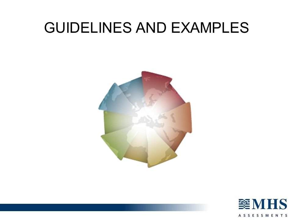 GUIDELINES AND EXAMPLES