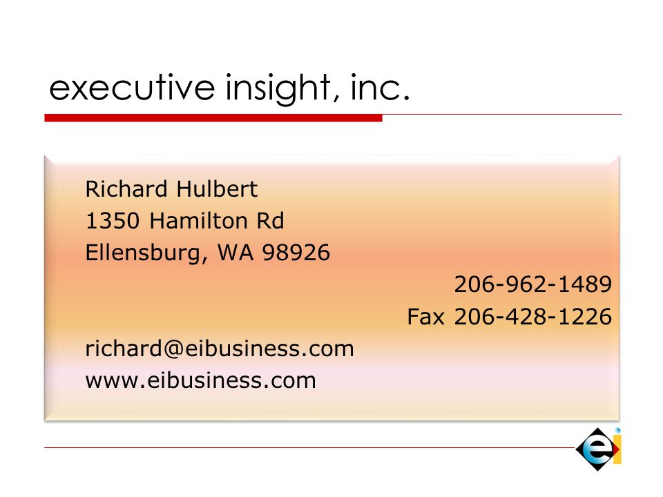 executive insight, inc.
