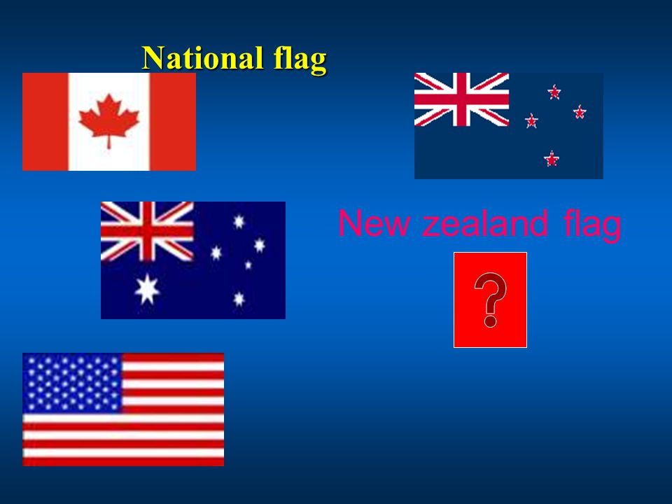 National flag New zealand flag