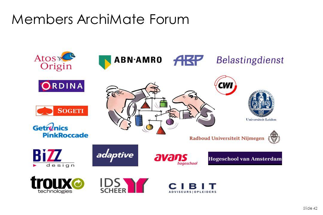 Slide 42 Members ArchiMate Forum