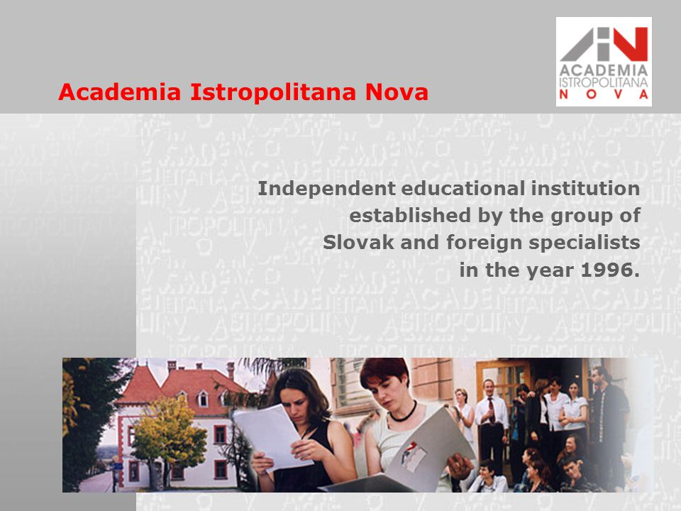 AINova Vision The vision of AINova is to constantly promote values of democracy and civil society