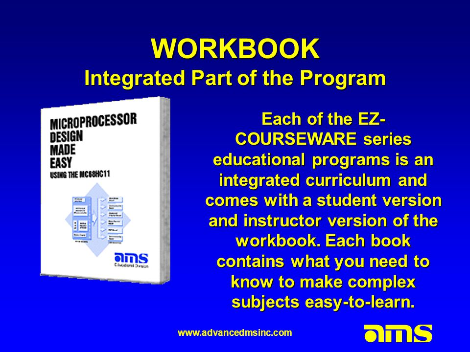 www.advancedmsinc.com WORKBOOK Integrated Part of the Program.