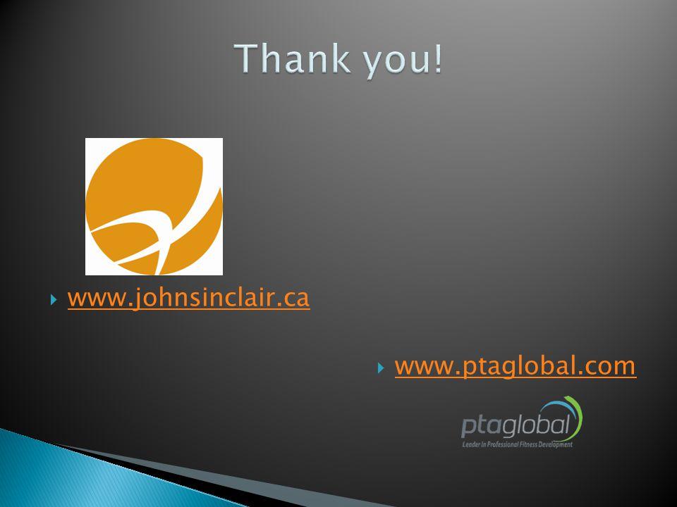  www.johnsinclair.ca www.johnsinclair.ca  www.ptaglobal.com www.ptaglobal.com