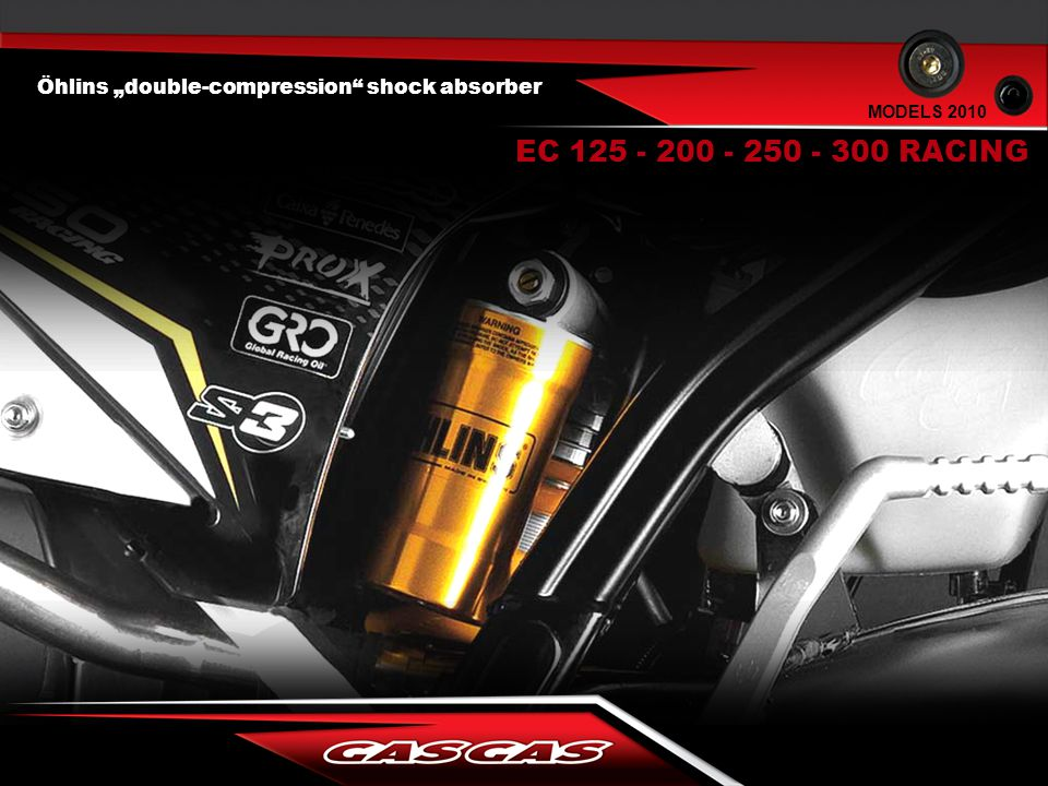 "Öhlins ""double-compression"" shock absorber EC 125 - 200 - 250 - 300 RACING MODELS 2010"