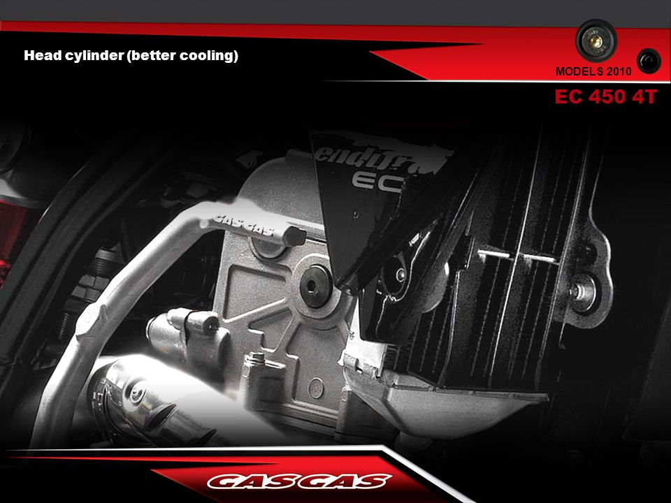 Head cylinder (better cooling) EC 450 4T MODELS 2010