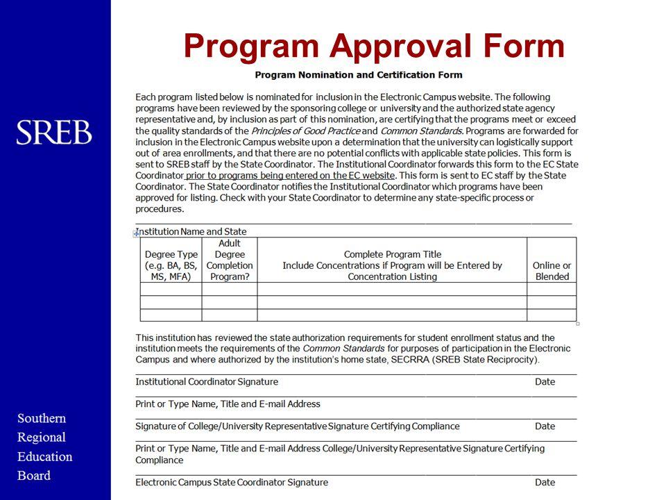 Program Approval Form