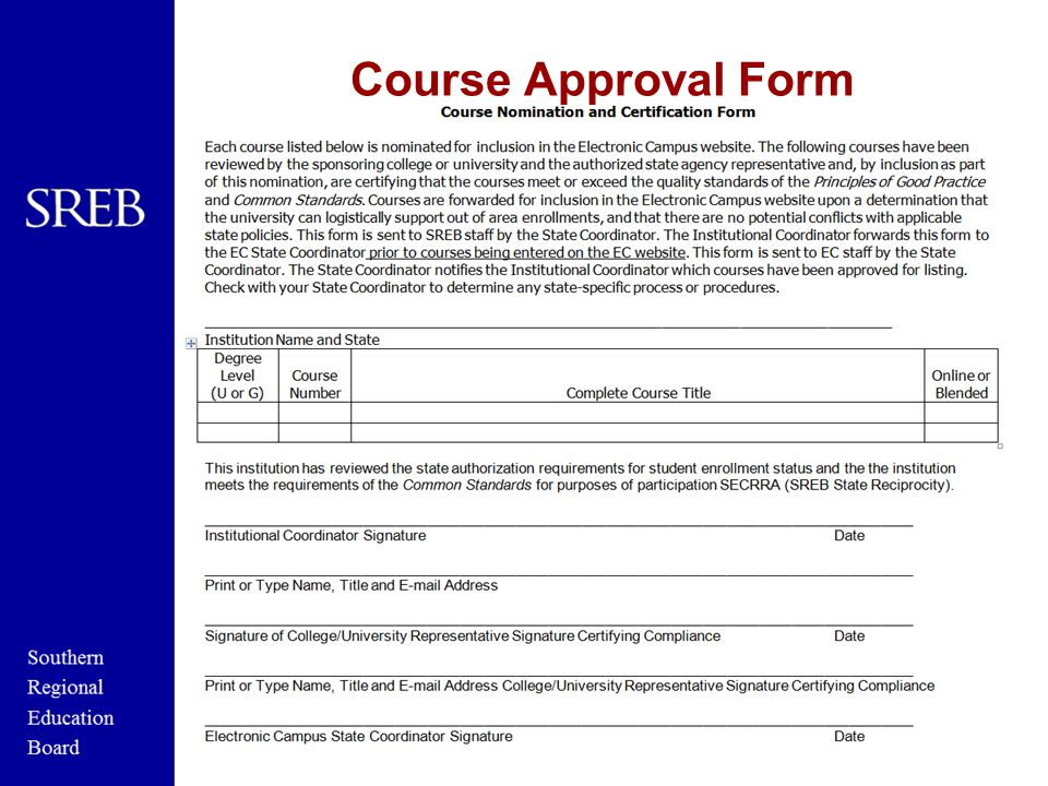 Course Approval Form