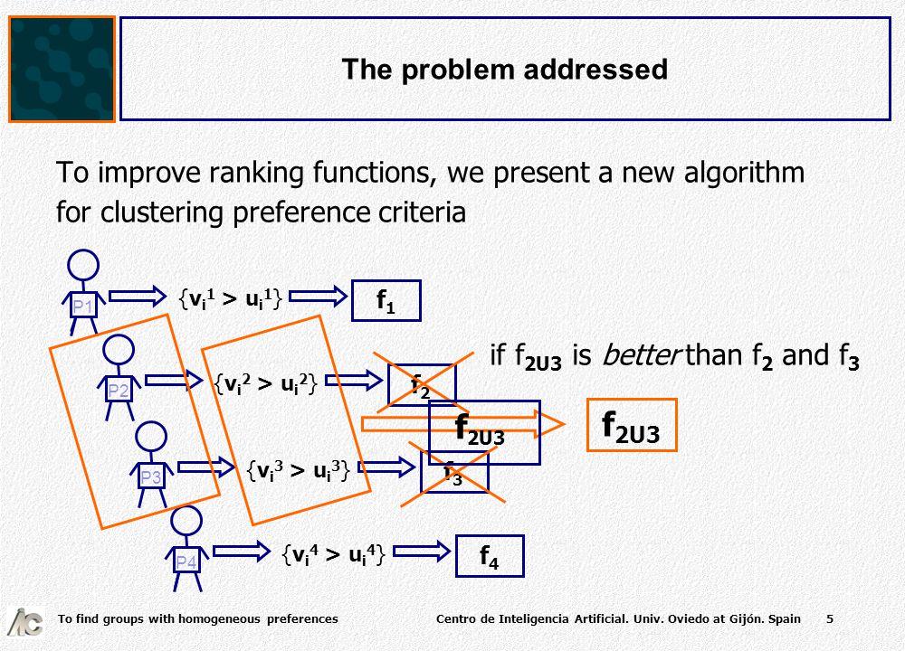 To find groups with homogeneous preferences Centro de Inteligencia Artificial.