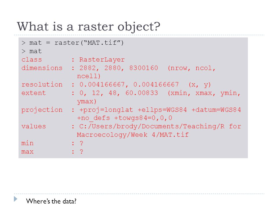 What is a raster object.