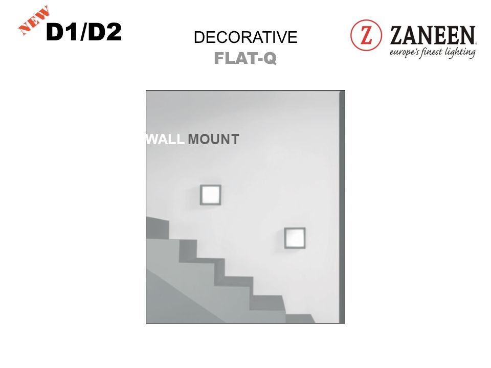 D1/D2 DECORATIVE FLAT-Q 11 ¾ DIAMETER WALL MOUNT NEW