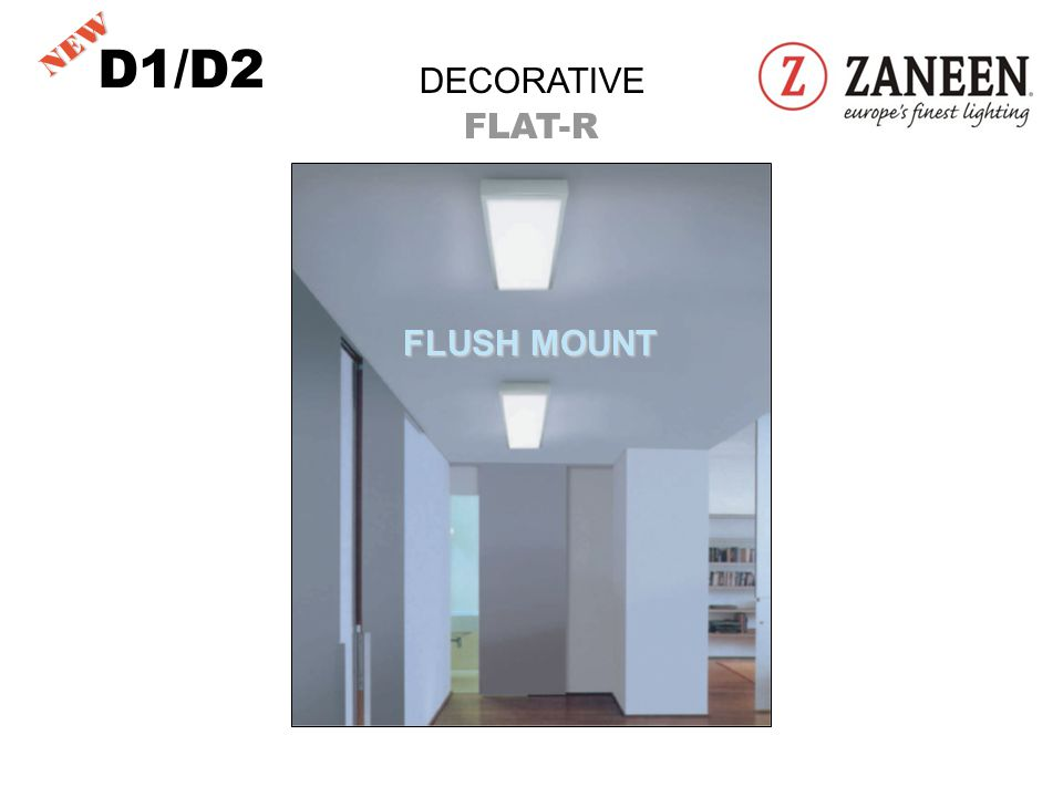 DECORATIVE FLAT-R 11 ¾ DIAMETER D1/D2 NEW FLUSH MOUNT
