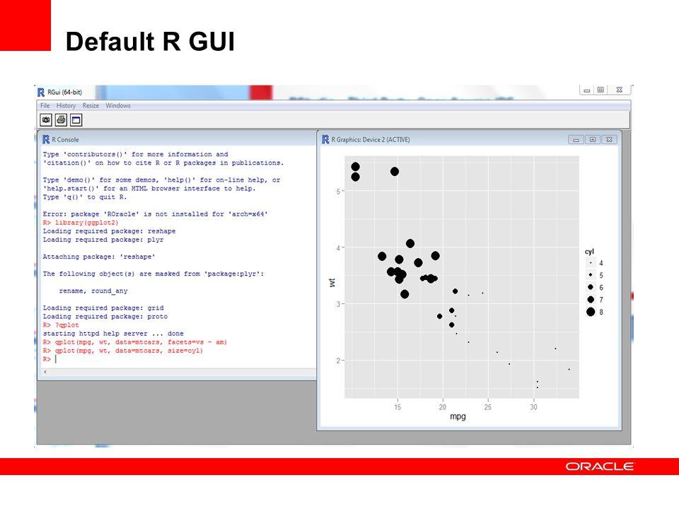 Default R GUI