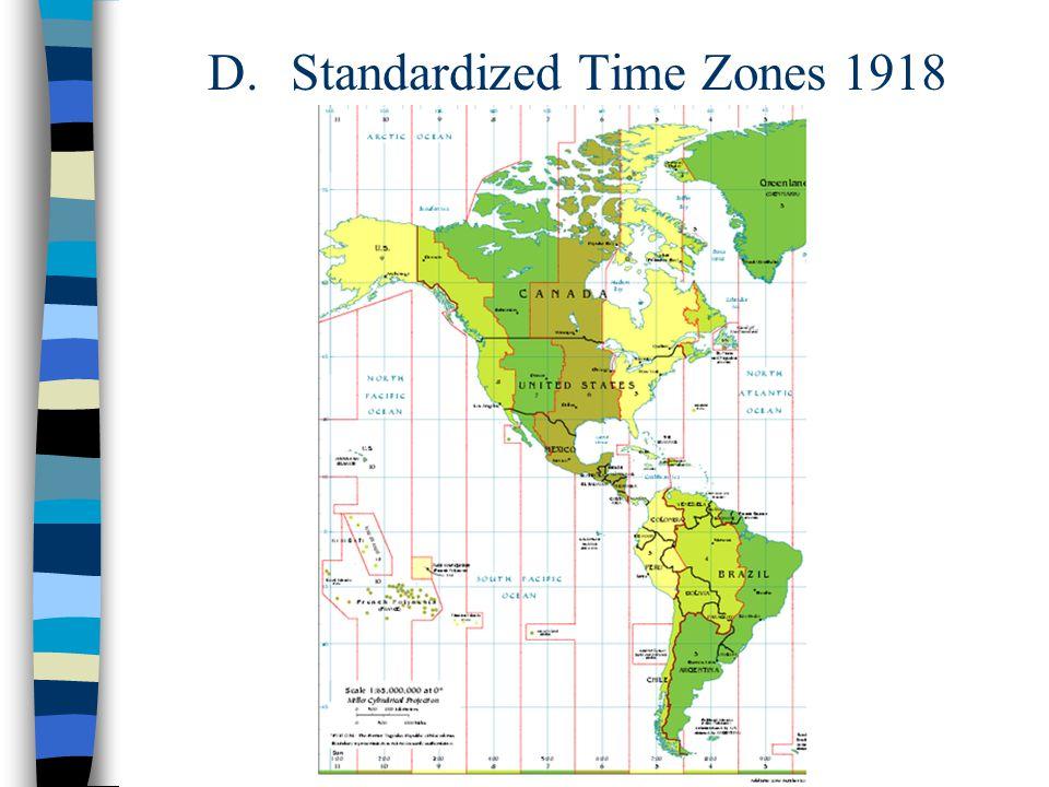 D. Standardized Time Zones 1918