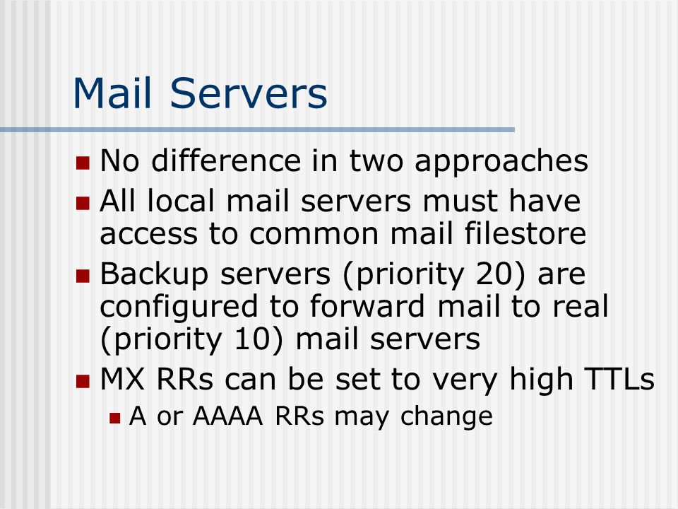 Mail Server Reverse Map ; reverse-map file fragment ; for 0.168.192.IN-ADDR.ARPA....
