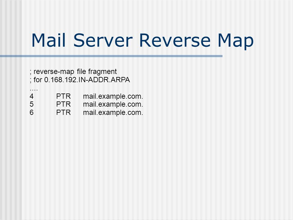 Virtual Subdomain Requires no new name servers Functionally identical to full delegation Zone file controlled by main zone administrators Shows delegation of mail – not essential – could use mail.example.com Further delegation possible under control of main zone administrators