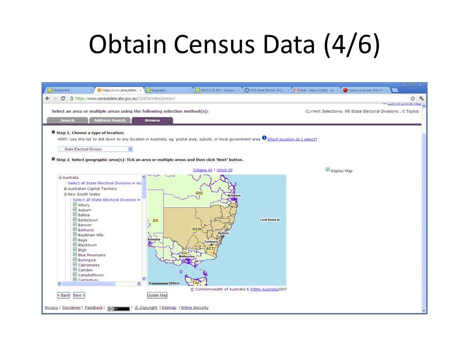 Obtain Census Data (4/6)