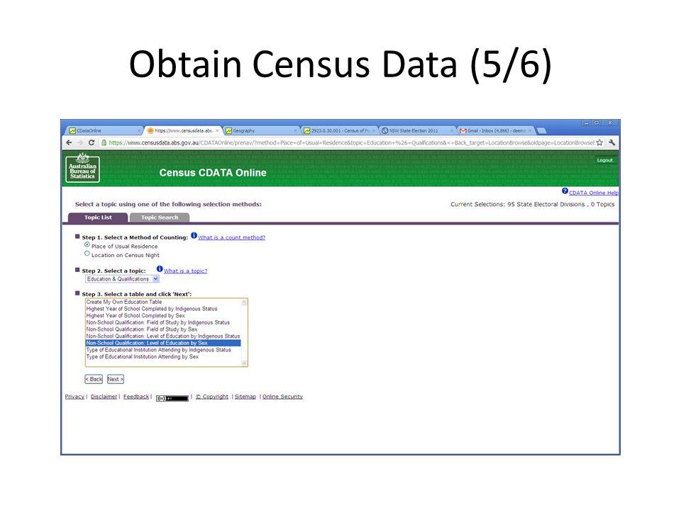 Obtain Census Data (5/6)