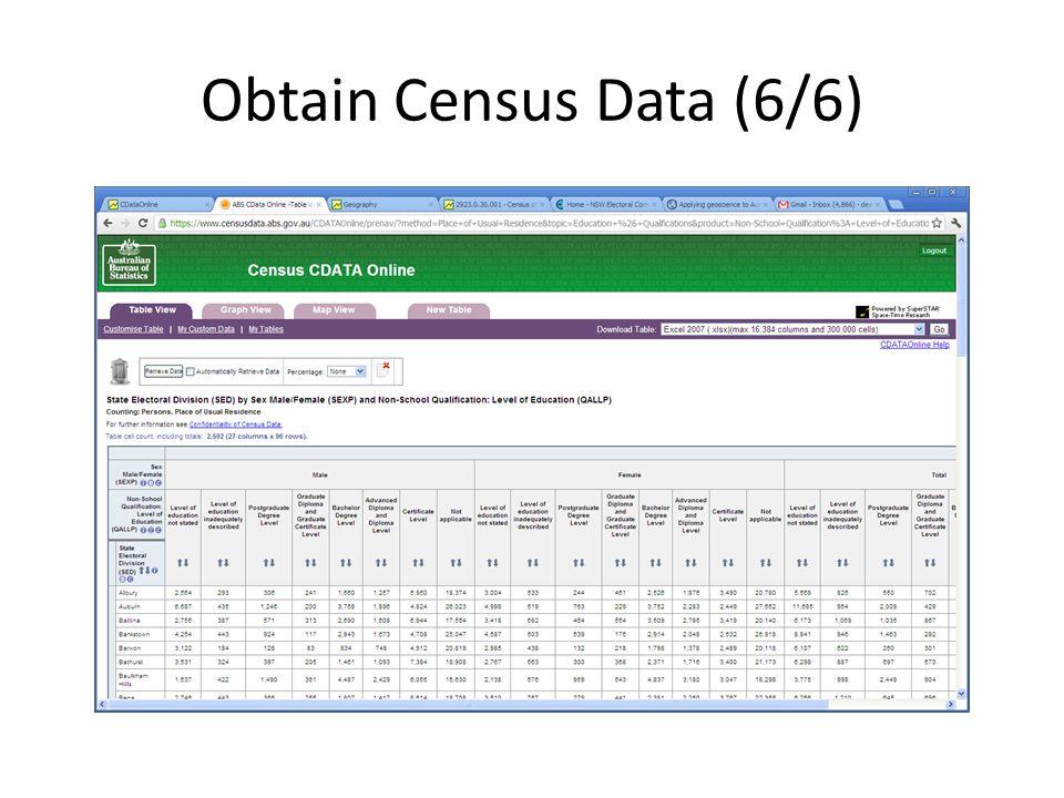 Obtain Census Data (6/6)