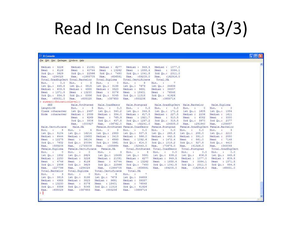 Read In Census Data (3/3)