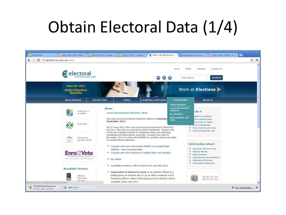 Obtain Electoral Data (1/4)