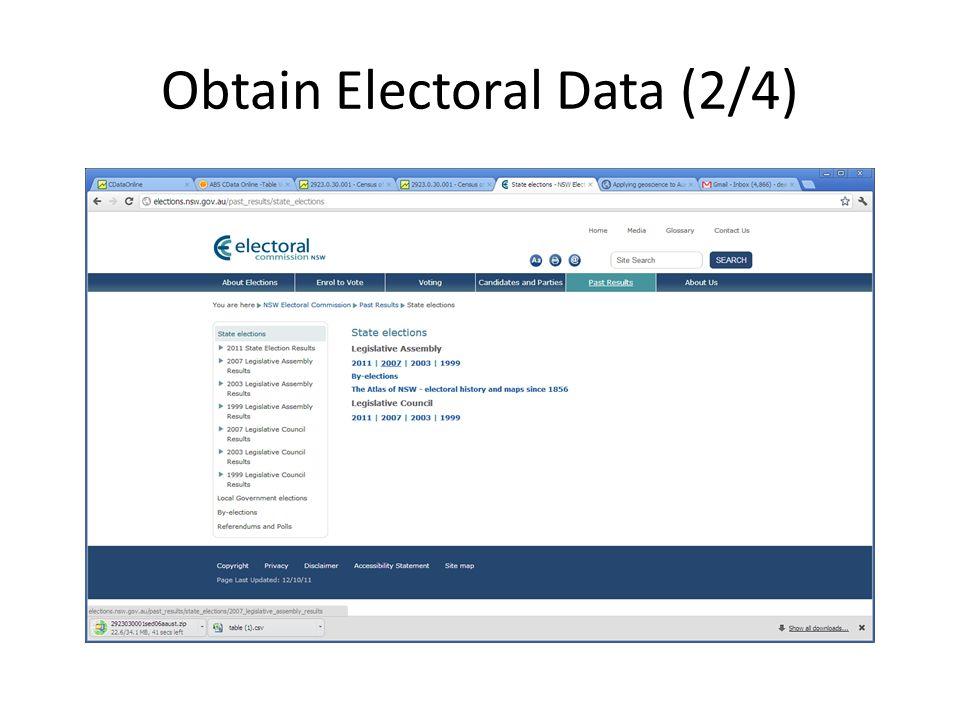 Obtain Electoral Data (2/4)