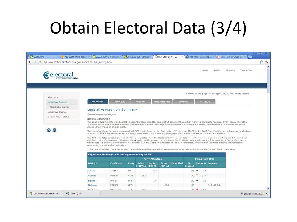 Obtain Electoral Data (3/4)