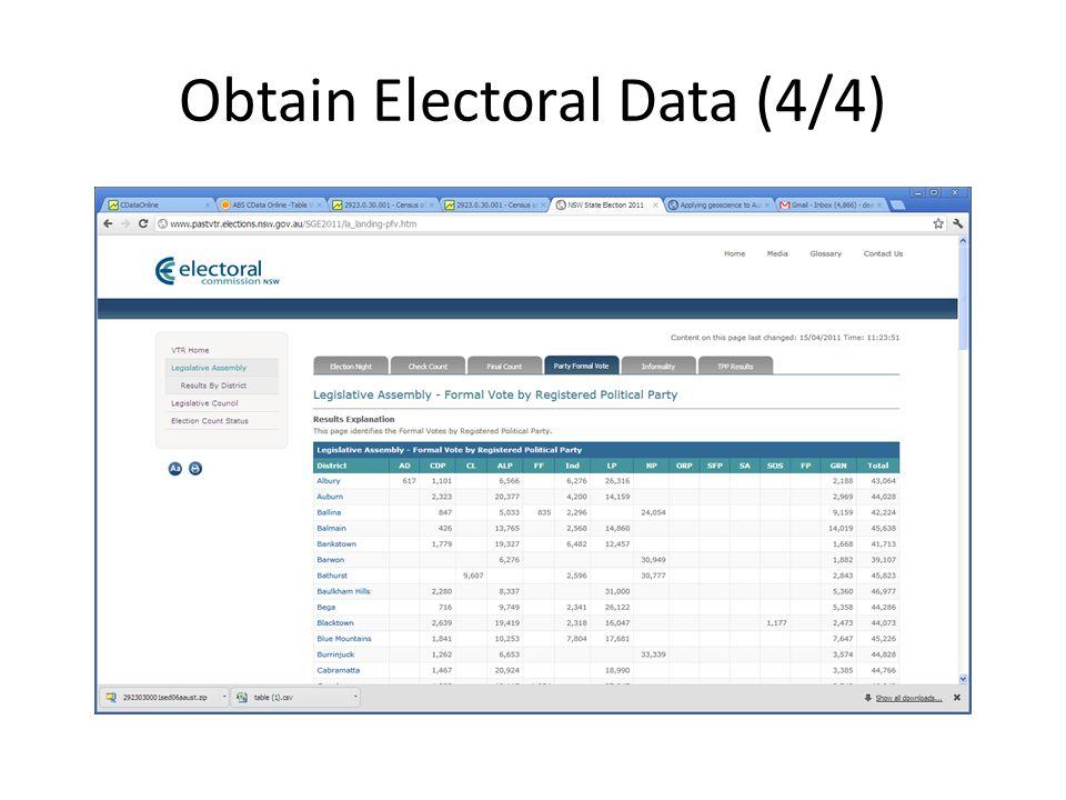 Obtain Electoral Data (4/4)