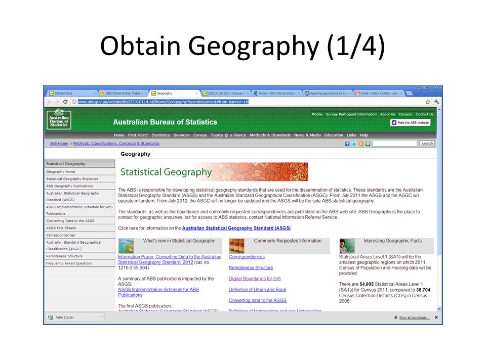Obtain Geography (1/4)