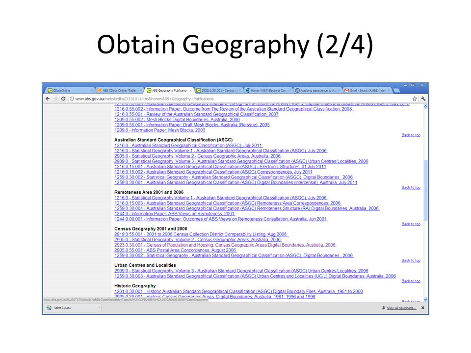 Obtain Geography (2/4)