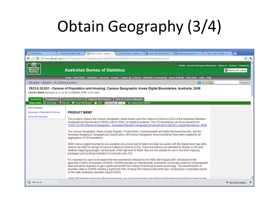 Obtain Geography (3/4)