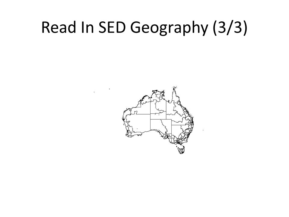 Read In SED Geography (3/3)