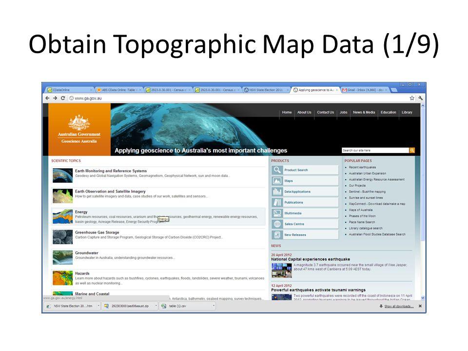 Obtain Topographic Map Data (1/9)
