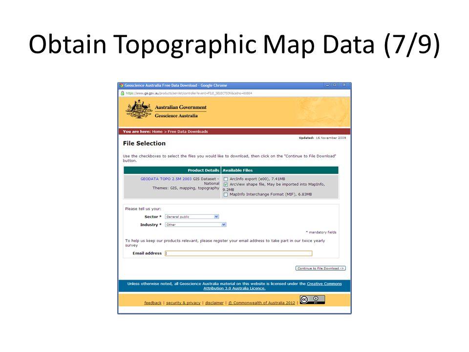 Obtain Topographic Map Data (7/9)
