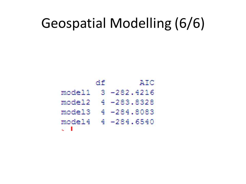 Geospatial Modelling (6/6)