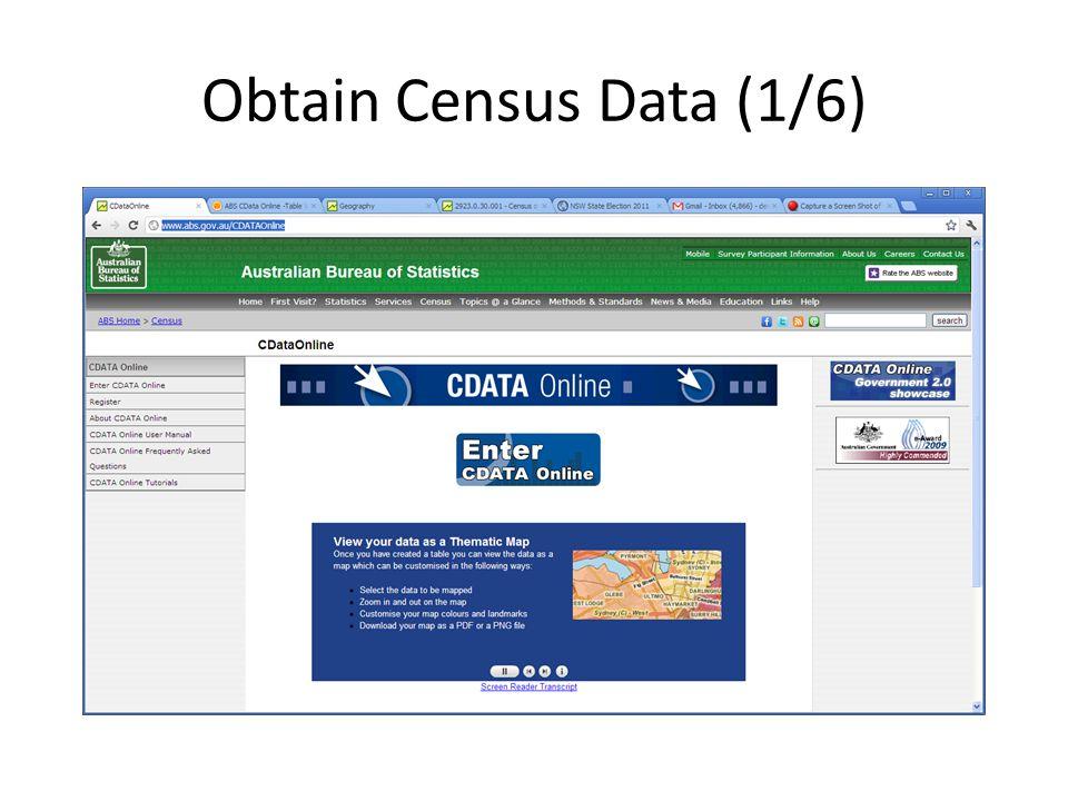 Obtain Census Data (1/6)