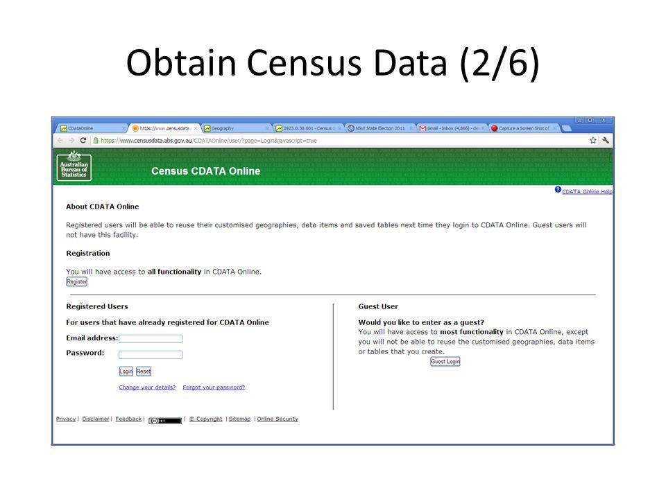 Obtain Census Data (2/6)
