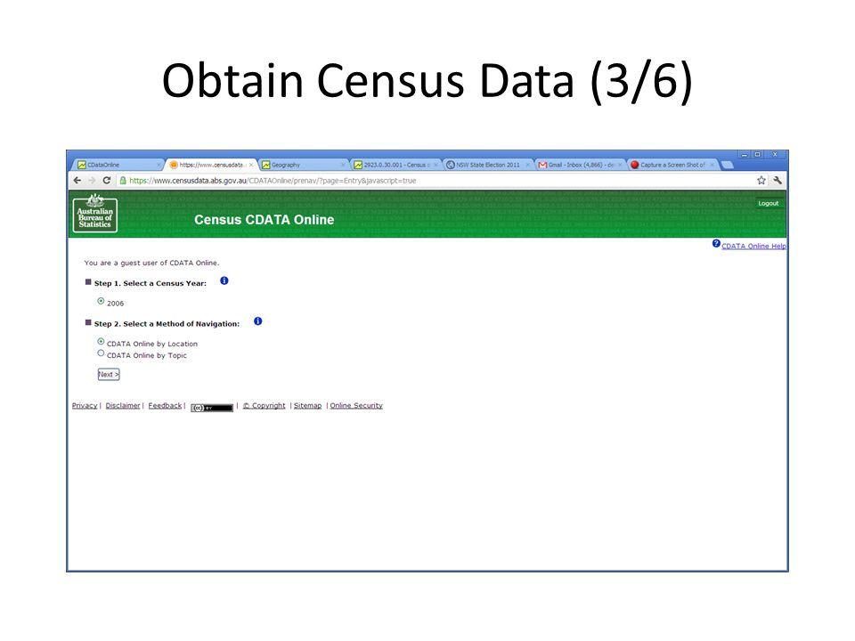 Obtain Census Data (3/6)