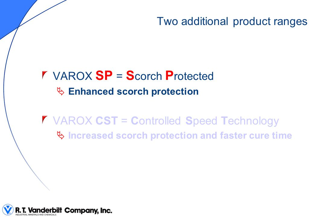 VAROX 230-XL-SP (development) M H is unchanged t ʹ 90 is unchanged t s 5 is multiplied by 4 at 110°C