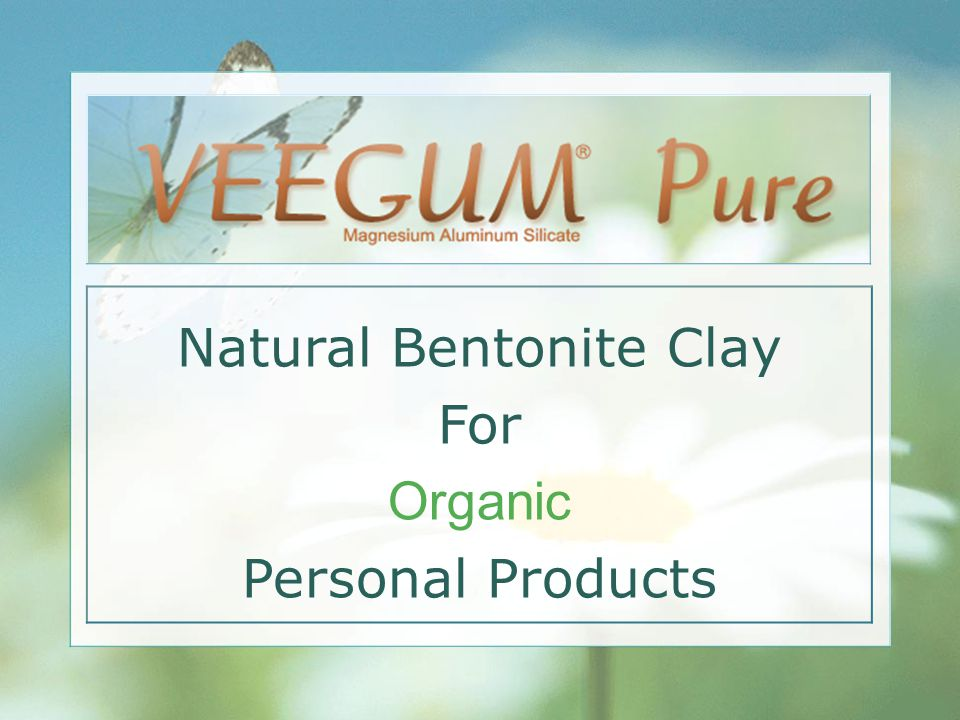 Natural Bentonite Clay For Organic Personal Products